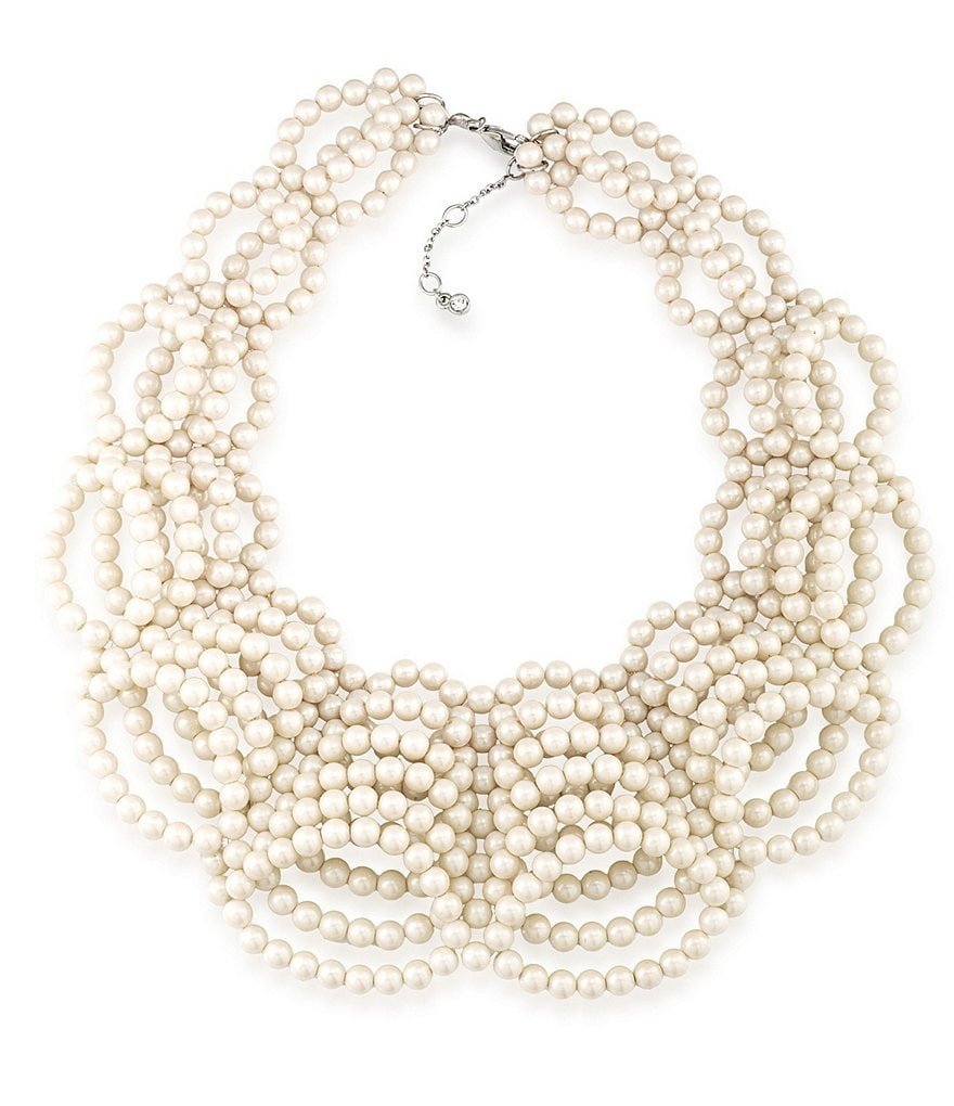 Carolee 21 Club Faux-Pearl Collar Necklace