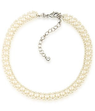 Carolee 21 Club Faux-Pearl Choker Necklace