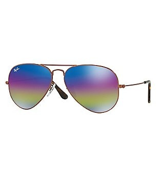 Ray-Ban Rainbow Lens Iconic Aviator Sunglasses