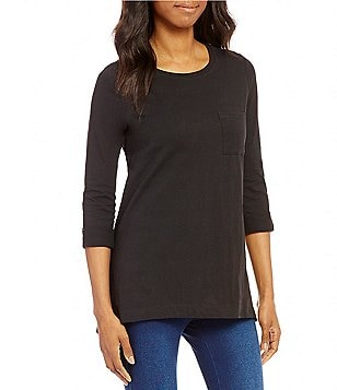 Westbound Petites 3/4 Sleeve One-Pocket Tunic