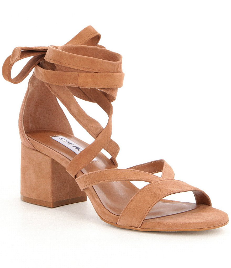 Steve Madden Isabel Tie Up Kid Suede Sandals