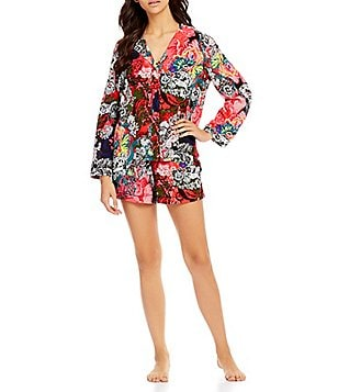 Josie Cosmos Floral Shorty Pajamas