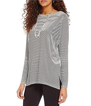 Cremieux Elsa Stripe Long Sleeve Knit Top