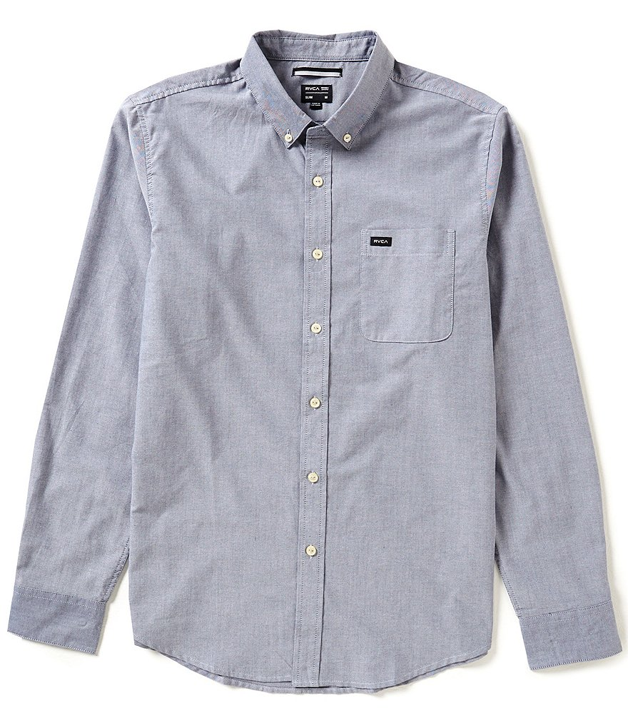 RVCA That'll Do Solid Oxford Long-Sleeve Shirt