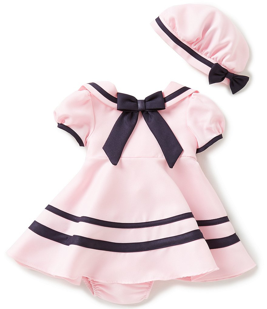 Rare Editions Baby Girls 3-9 Months Sailor Dress