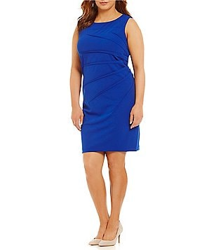 Calvin Klein Plus Starburst Side Ruched Dress