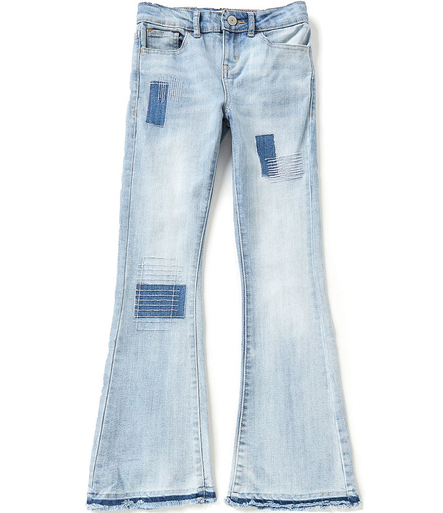 Levi´s Big Girls 7-16 Midrise Boho Flare Released Hem Patch Detail Jeans