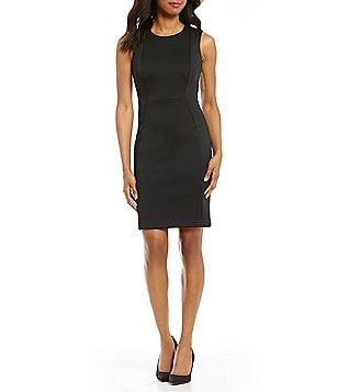 Calvin Klein Petite Scuba Sheath Sleeveless Dress