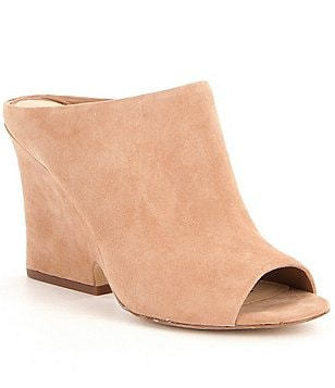 Sam Edelman Wayne Slip-On Peep-Toe Wedge Dress Mules