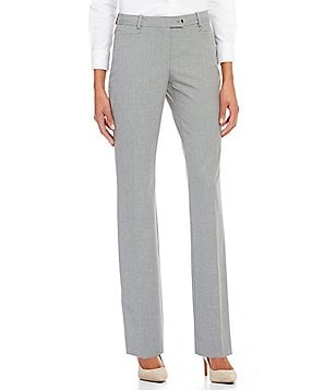 Calvin Klein Petites Luxe Stretch Pinstripe Suiting Modern Fit Straight-Leg Pants
