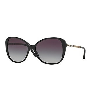 Burberry Leather Check Gradient Butterfly Sunglasses