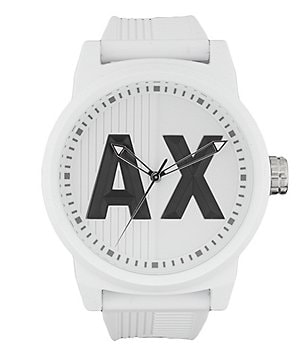 AX Armani Exchange ATLC Analog Silicone-Strap Watch