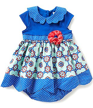 Counting Daisies Baby Girls 12-24 Months Mixed-Media Dress