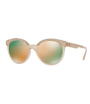 Versace Studs Medusa Round Mirrored Sunglasses