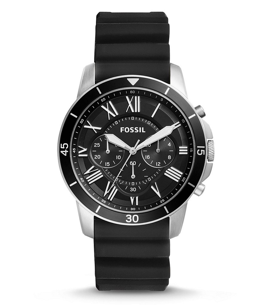 Fossil Grant Sport Chronograph SIlicone-Strap Watch
