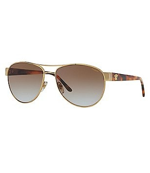 Versace Medusa Polarized Gradient Aviator Sunglasses