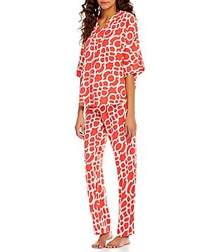 N by Natori Linked-Print Challis Pajamas
