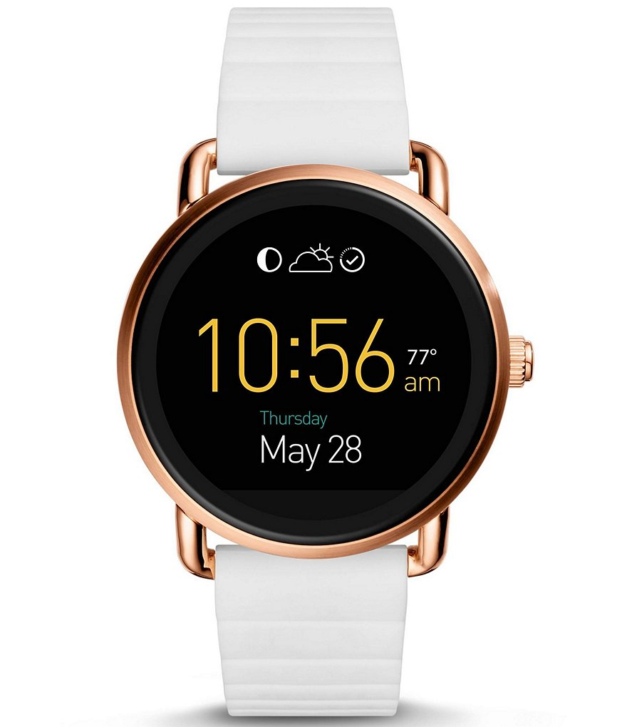 Fossil Q Wander Touchscreen Silicone-Strap Smart Watch