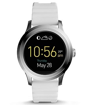 Fossil Q Founder 2.0 Touchscreen Silicone-Strap Smart Watch