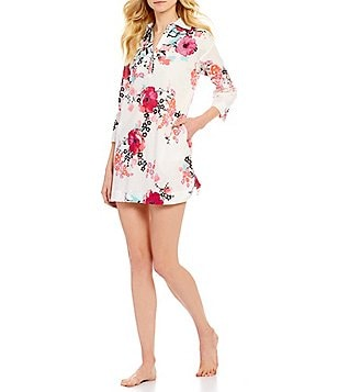 N by Natori Garland Floral Cotton Lawn Sleepshirt