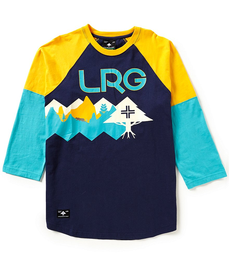 LRG Uncharted 3/4 Raglan-Sleeve Graphic Tee