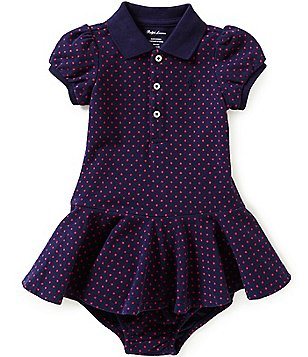 Ralph Lauren Childrenswear Baby Girls 3-24 Months Polka-Dot Short-Sleeve Pique Shirt Dress