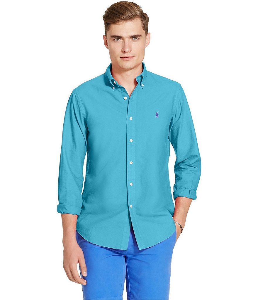 Polo Ralph Lauren Garment-Dyed Long-Sleeve Woven Shirt