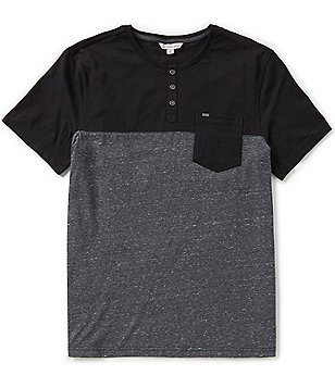 Calvin Klein Jeans Short-Sleeve Color Block Pocket Henley
