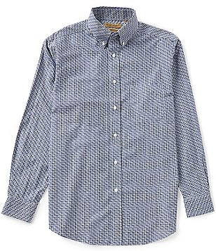Gold Label Roundtree & Yorke Big & Tall Perfect Performance Non-Iron Long-Sleeve Check Sportshirt