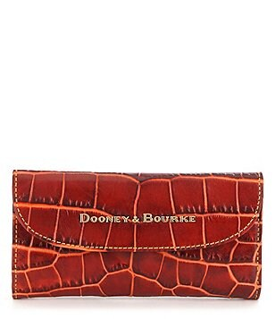 Dooney & Bourke Lafayette Collection Crocodile-Embossed Continental Clutch