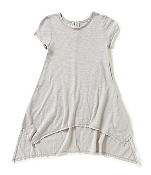 People´s Project LA Big Girls 7-16 Short Sleeve Hi-Low Tunic Top