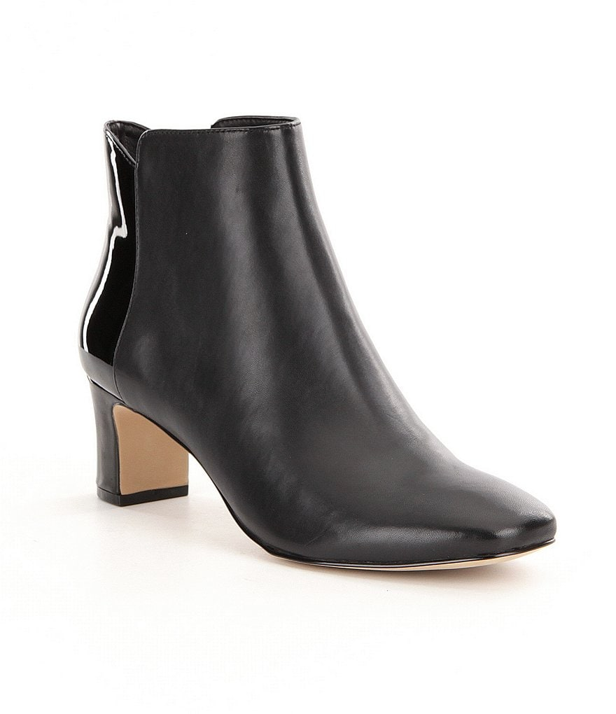 Donald J Pliner Jakk Nappa and Patent Leather Booties