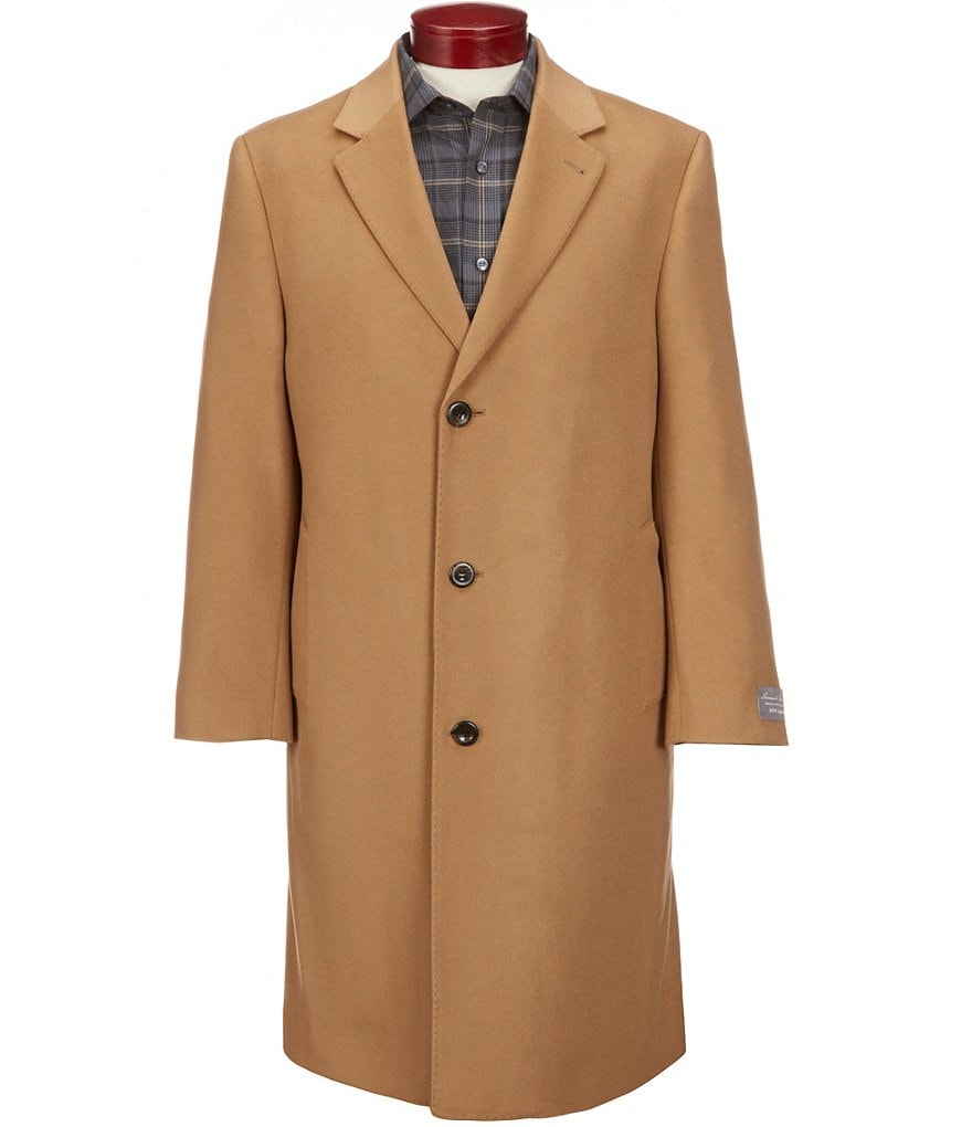 Cremieux Cashmere Solid Single-Breasted Top Coat