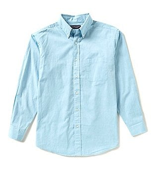 Roundtree & Yorke Big & Tall Long-Sleeve Solid Oxford Sportshirt