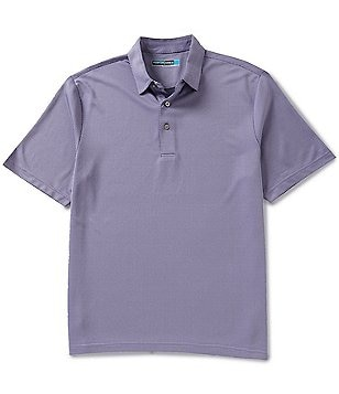 Roundtree & Yorke Performance Big & Tall Short-Sleeve Jacquard Polo