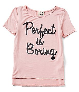 People´s Project LA Big Girls 7-16 Perfect is Boring Short Sleeve Tee