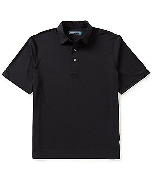 Roundtree & Yorke Performance Big & Tall Short Sleeve Solid Texture Polo