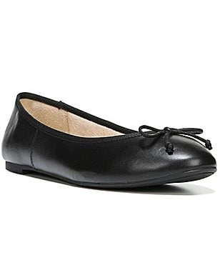Sam Edelman Carrie Leather Tie Bow Detail Slip-On Ballet Flats