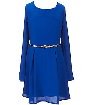 GB Girls Big Girls 7-16 Belted Fit-and-Flare Dress
