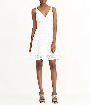 Lauren Ralph Lauren Lace Sleeveless Fit-and-Flare Dress