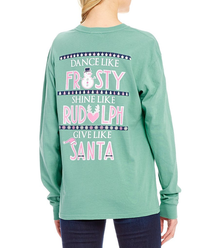 Jadelynn Brooke Long-Sleeve Christmas Dance Like Frosty Graphic Tee