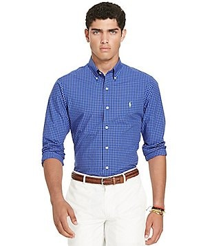Polo Ralph Lauren Check Poplin Long-Sleeve Woven Shirt