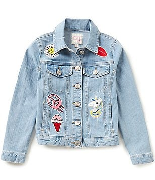 GB Girls Big Girls 7-16 Denim Patched Jacket