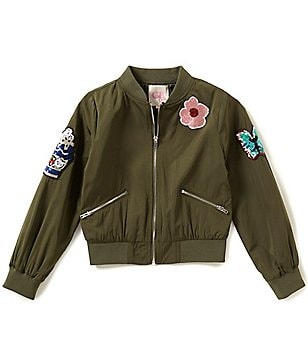 GB Girls Big Girls 7-16 Sequin Patched Bomber Jacket