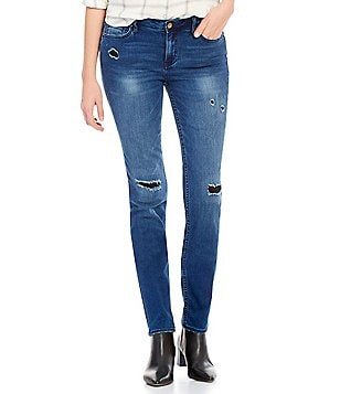 Calvin Klein Jeans Ultimate Skinny Distressed Wash Patched Jeans