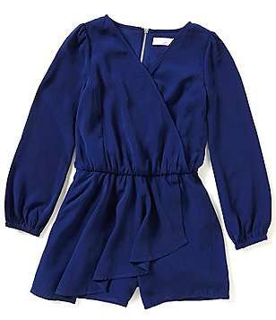 GB Girls Big Girls 7-16 Surplice Romper
