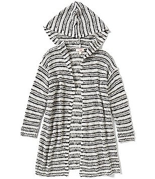 GB Girls Big Girls 7-16 Striped Hooded Cardigan