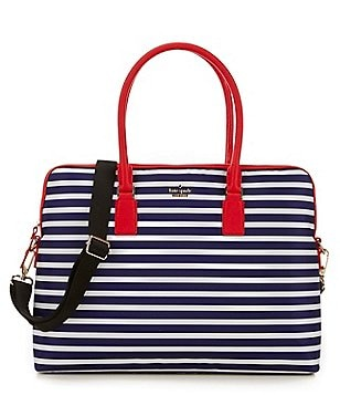 kate spade new york Striped Nylon Laptop Satchel
