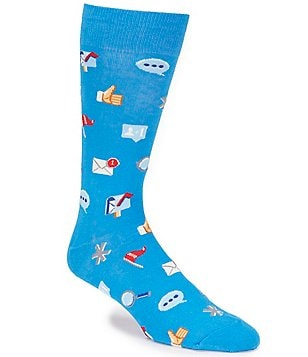 Hot Sox Social Media Emoji Crew Socks