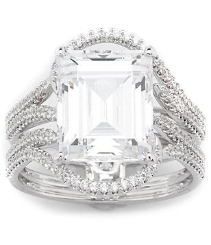 Nadri Emerald-Cut Cubic Zirconia Stone Ring